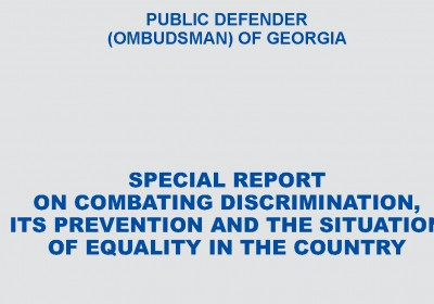 On Combating against Discrimination, Its Prevention and State of Equality