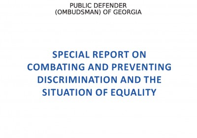Special Report on Fight against Discrimination, Its Prevention and Situation of Equality