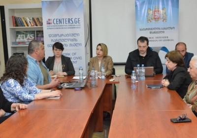 Public Defender Meets with Civil Society Representatives in Kakheti Region