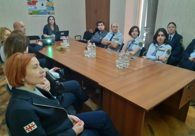 Meeting with Resource Officers of Telavi Educational Institution