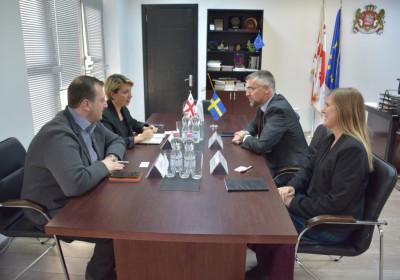 Public Defender Meets with Ambassador of Sweden