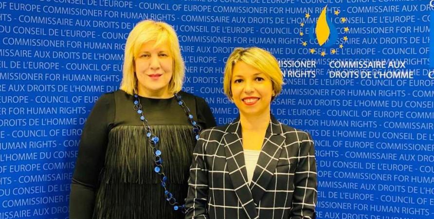 სახალხო დამცველის შეხვედრა ევროპის საბჭოს ადამიანის უფლებათა კომისართან
