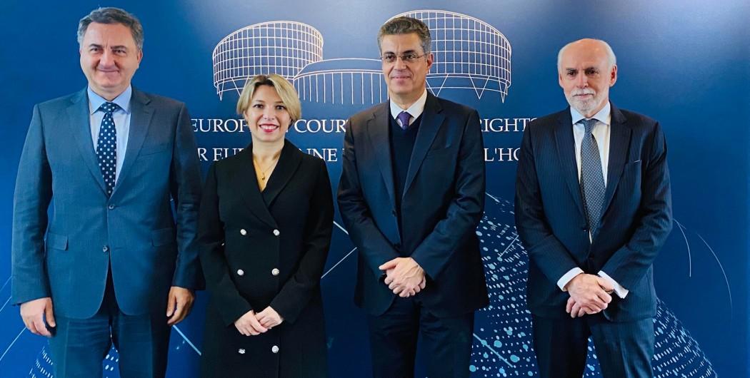 შეხვედრა ადამიანის უფლებათა ევროპული სასამართლოს პრეზიდენტთან