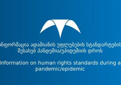 Information on human rights standards during a pandemic/epidemic