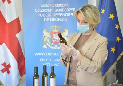 Badagoni Company Hands Over Disinfectants to Public Defender's Office