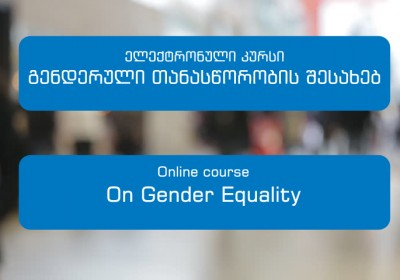 Electronic course on gender equality