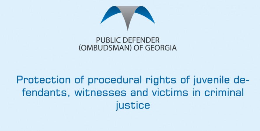 Protection of procedural rights of juvenile defendants, witnesses and victims in criminal justice