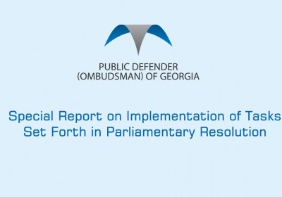 Special Report on Implementation of Tasks Set Forth in Parliamentary Resolution