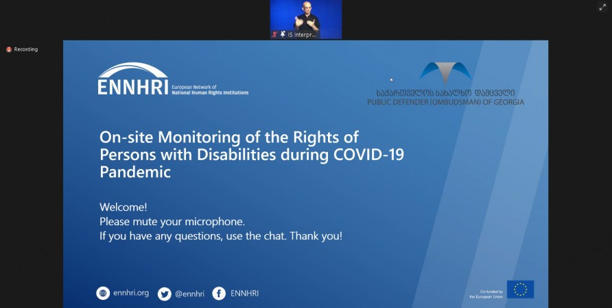 Regional Webinar on On-site Monitoring of the Rights of Persons with Disabilities during Pandemic