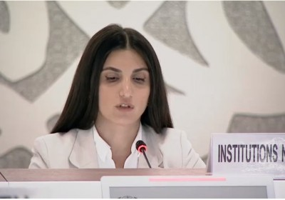 Public Defender's Representative Delivers Speech at UN Human Rights Council Session