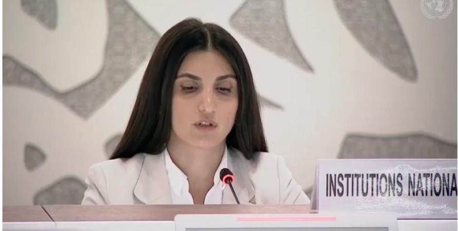 Public Defender's Representative Delivers Speech at UN Human Rights Council Session
