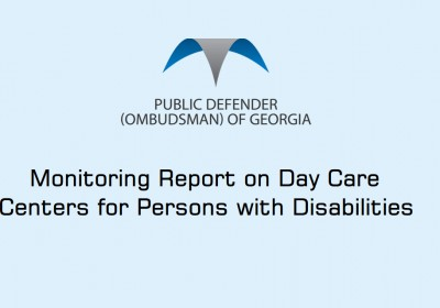 Monitoring Report on Day Care Centers for Persons with Disabilities
