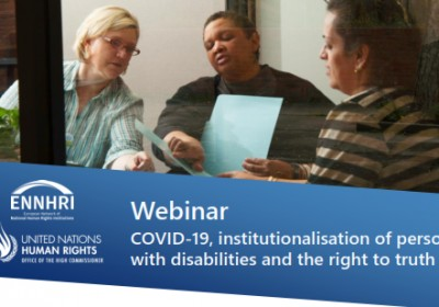 Deputy Public Defender Participates in International Webinar on Institutionalization of Persons with Disabilities