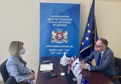 Public Defender Meets with UK Ambassador