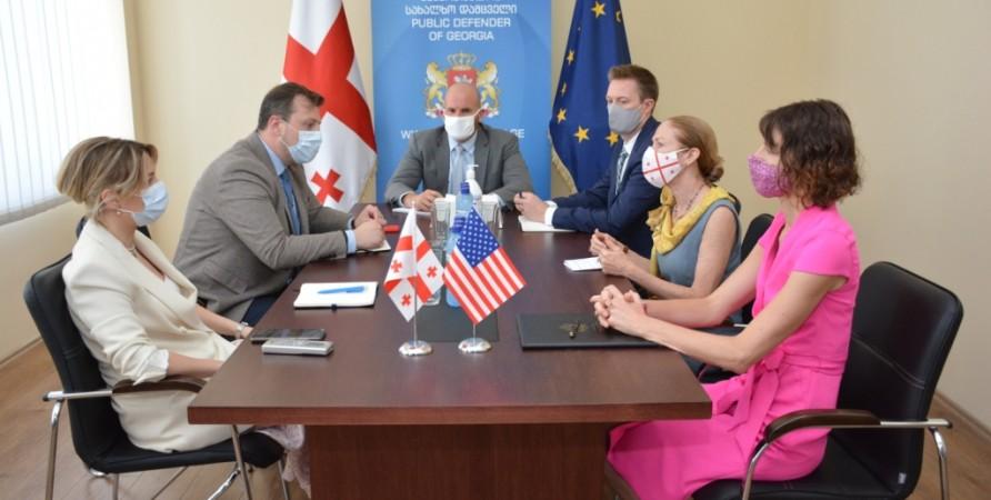 Meeting between Public Defender of Georgia and US Ambassador to Georgia