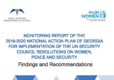 Findings and Recommendations of Monitoring of Implementation of 2018-2020 National Action Plan for Women, Peace and Security