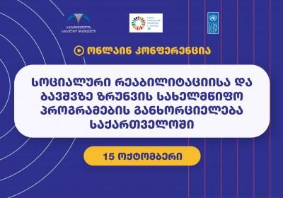 Առցանց համաժողով ՝ «Վրաստանում սոցիալական վերականգնման և երեխաների խնամքի պետական ծրագրերի իրականացում»