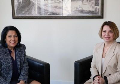 სახალხო დამცველის შეხვედრა საქართველოს პრეზიდენტთან