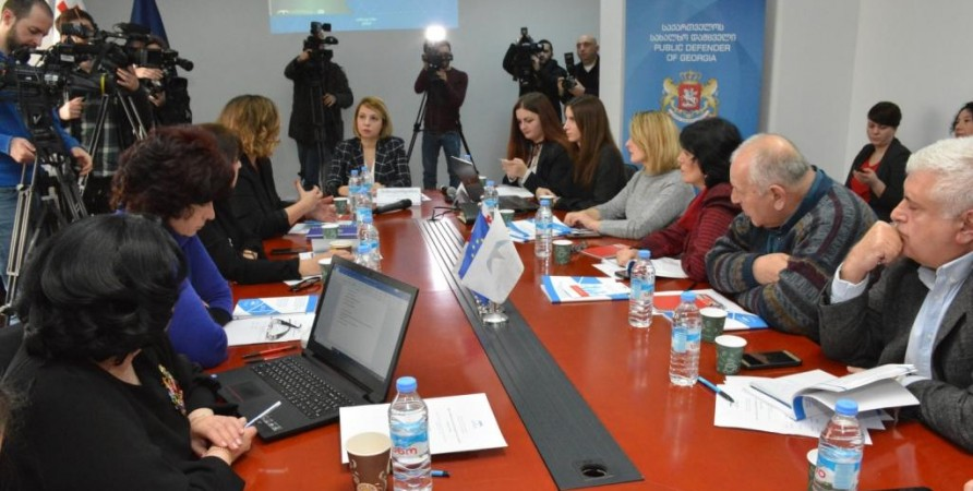 Presentation of Public Defender's Special Report on Water, Sanitation and Hygiene in Public Schools of Georgia