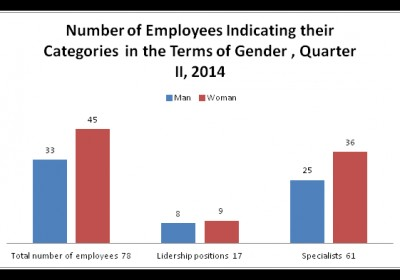Number of Employees Indicating their Categories  in the Terms of Gender , Quarter II, 2014