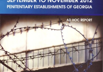 Succinct summary of the events from September to November 2012 Penitentiary Establishments of Georgia