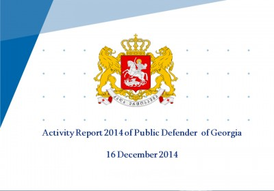 Activity Report 2014 of Public Defender  of Georgia