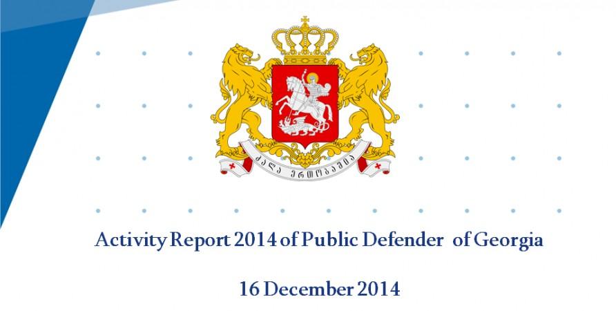 Activity Report 2014 of Public Defender  of Georgia