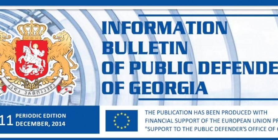 Information Bulletin – Periodic Publication, December, 2014