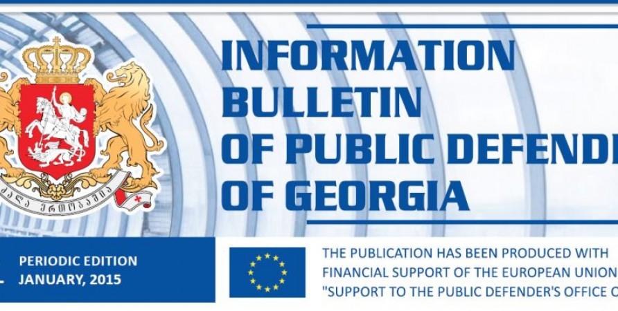 Bulletin, Periodic Publication – January, 2015