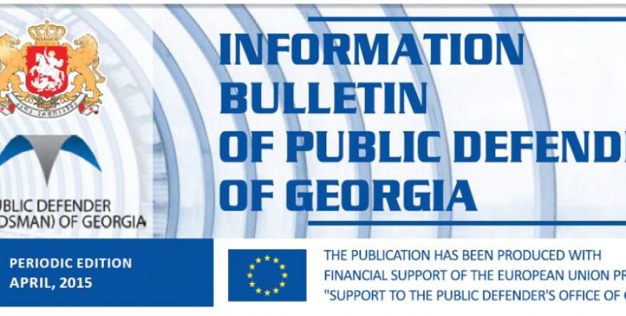 Bulletin, Periodic Edition – April, 2015