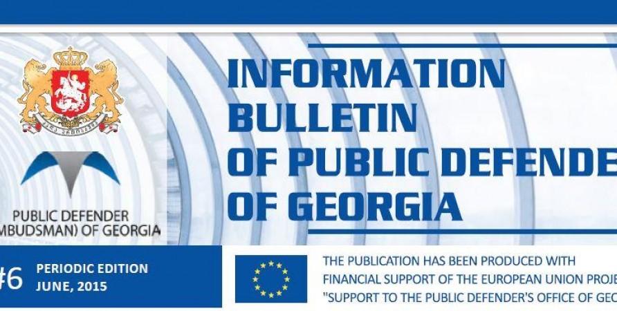 Bulletin, Periodic Edition – June, 2015