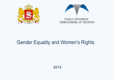 Gender Equality and Women's Rights, 2013 year