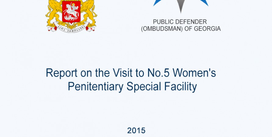 Report on the Visit to No.5 Women's Penitentiary Special Facility