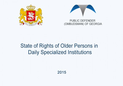 State of Rights of Older Persons in Daily Specialized Institutions