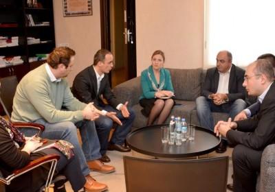 Public Defender Meets with Legal Service lawyer Giorgi Mdinaradze