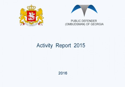The Public Defender (Ombudsman) of Georgia  Activity Report 2015