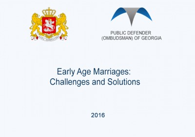 Early Age Marriages: Challenges and Solutions