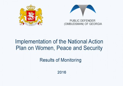 Implementation of the National Action Plan on Women, Peace and Security – Results of Monitoring