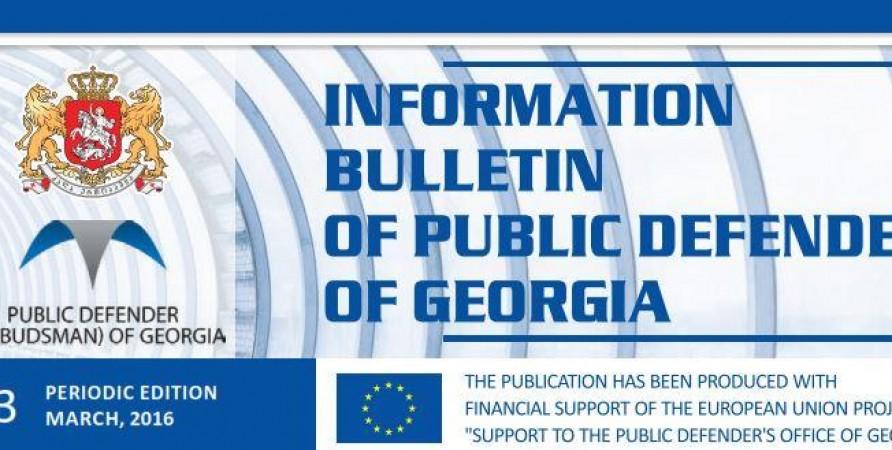 Bulletin, Periodic Edition - March 2016