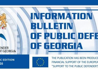 Bulletin, Periodic edition – May 2016
